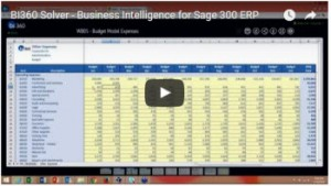 BI360: Powerful Budgeting and Reporting for Sage 300 ERP