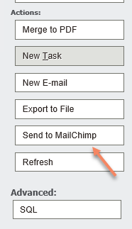 Sage CRM - Send to MailChimp