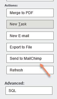 Sage CRM - Send to MailChimp