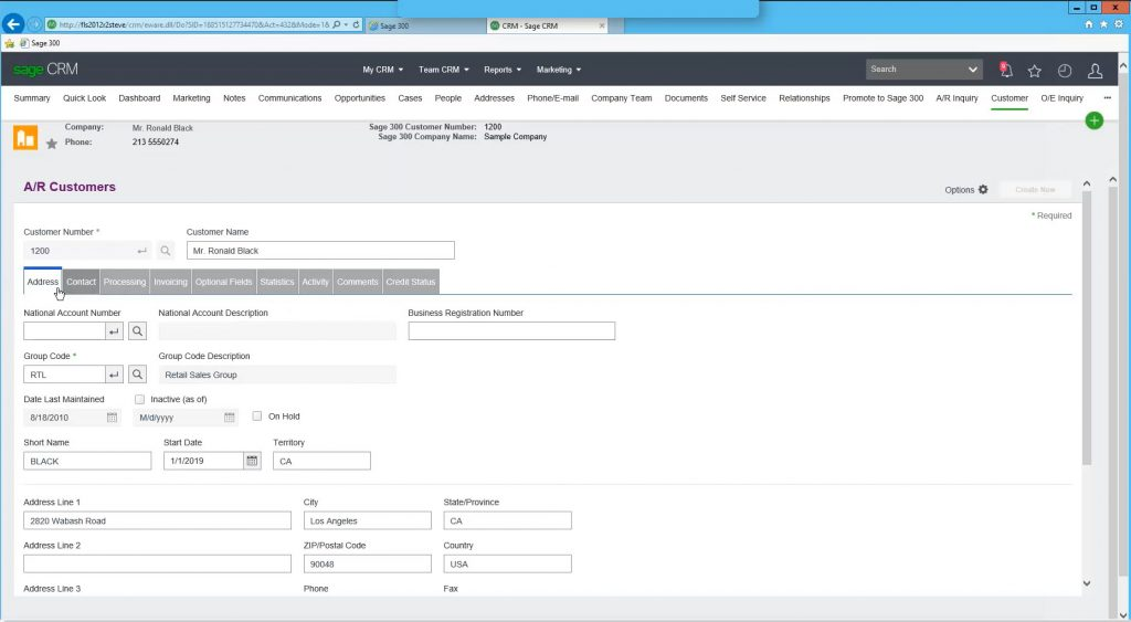sage crm integration to sage 300 1