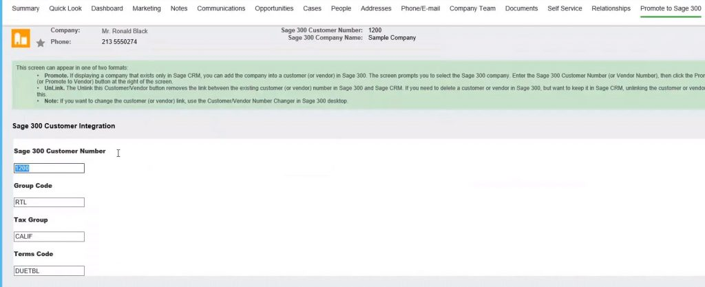 sage crm integration to sage 300 3